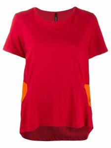 Pierantoniogaspari contrast detail T-shirt - Red