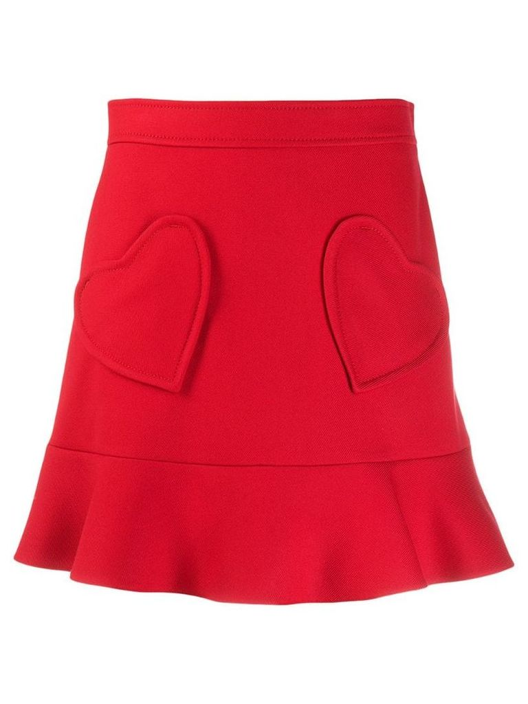 Red Valentino heart patch skirt