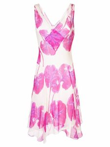 Diane von Furstenberg floral flared midi dress - Pink