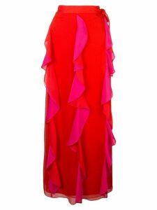 Diane von Furstenberg ruffle maxi skirt - Pink