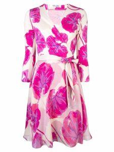 Dvf Diane Von Furstenberg floral wrap dress - Pink