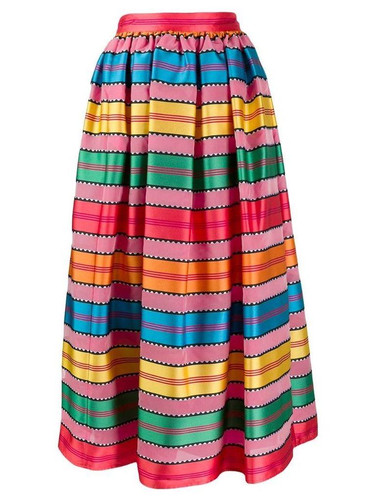 Mary Katrantzou grosgrain ribbon midi skirt - Pink