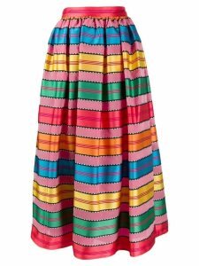 Mary Katrantzou grosgrain ribbon midi skirt - Pink
