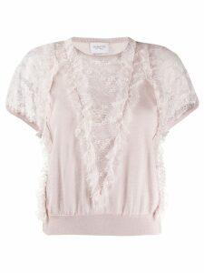 Giambattista Valli lace-panelled sweater - Neutrals
