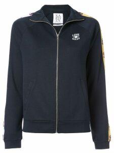 Zoe Karssen Love Rules zipped-up jacket - Blue