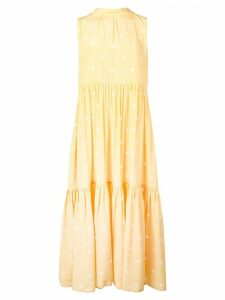 Asceno polka dot tiered dress - Yellow
