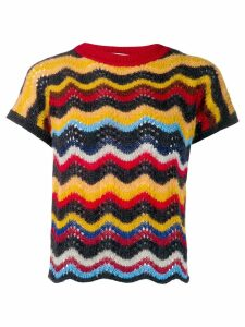 Marni zig zag knitted top - Blue