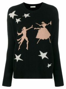Etro star print sweater - Black