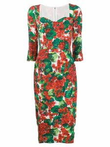 Dolce & Gabbana Portofino-print midi dress - Red