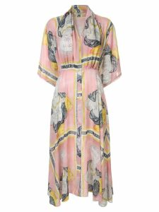Tata Naka printed midi dress - Pink