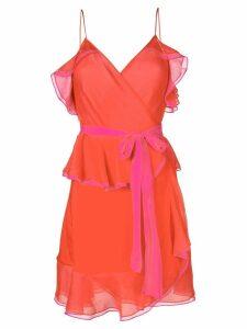 Diane von Furstenberg ruffle-trim shift dress - Red