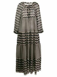 Stella McCartney zig-zag and stripe shift dress - Black