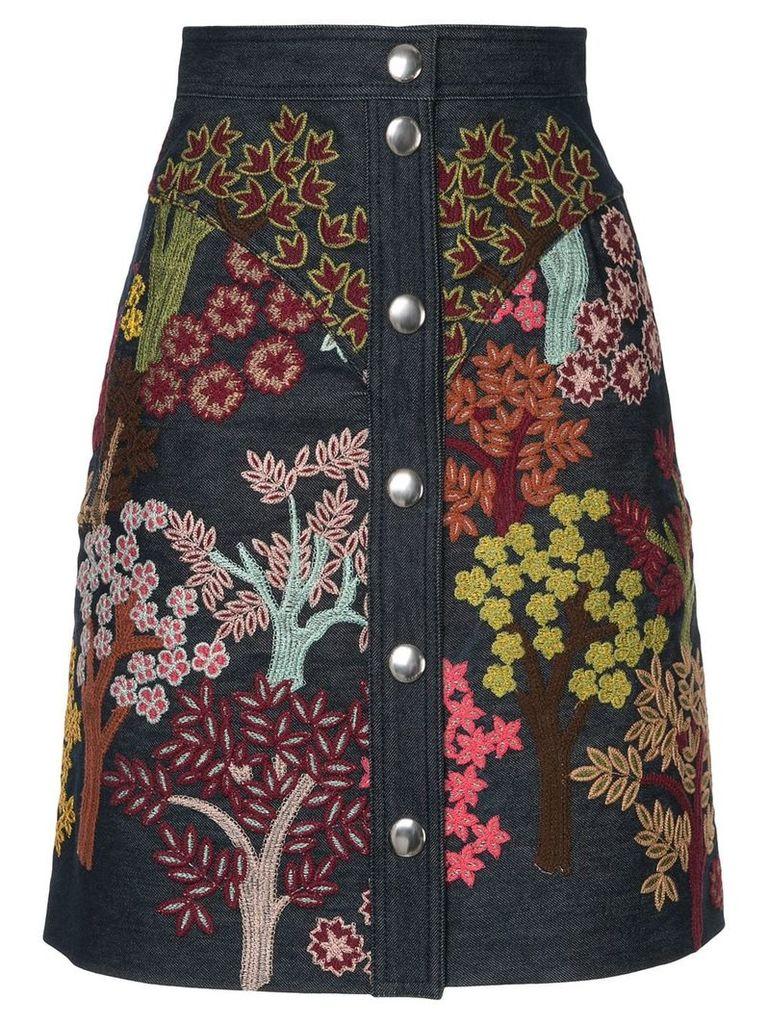 Giambattista Valli floral embroidered skirt - Multicolour