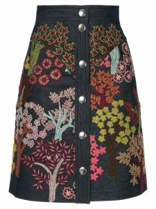 Giambattista Valli floral embroidered skirt - Multicolour