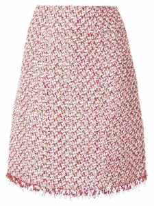Giambattista Valli tweed straight midi skirt - PINK