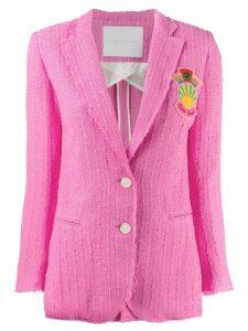 Giada Benincasa patch embellished tweed blazer - Pink
