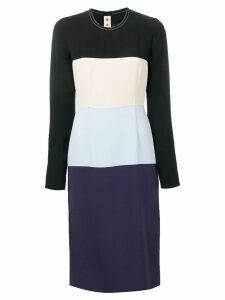 Marni colour block dress - Black
