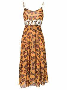 Tata Naka leopard print dress - Yellow