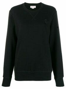 Alexander McQueen skull patch sweatshirt - Black