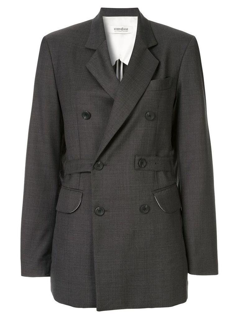 Kimhekim double-breasted blazer - Grey