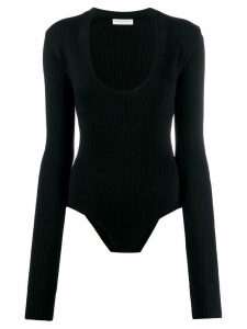 Bottega Veneta deep scoop neck bodysuit - Black
