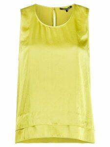 Luisa Cerano double hem sleeveless blouse - Green