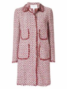 Giambattista Valli tweed single breasted coat - Pink