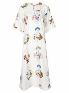 Tata Naka printed kaftan dress - White