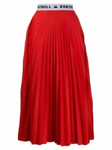 Kappa Kontroll pleated midi skirt - Red