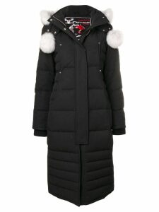 Moose Knuckles fox fur trimmed hood padded coat - Black