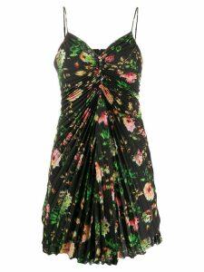 MSGM printed pleated mini dress - Black
