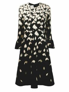 Valentino mid-length snowdrop dress - Black