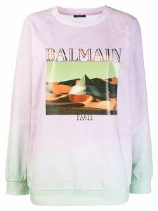 Balmain pyramid graphic sweatshirt - Pink