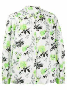MSGM printed boxy shirt - Green