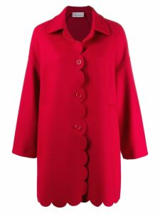 Red Valentino scalloped coat - D05 Deep Red