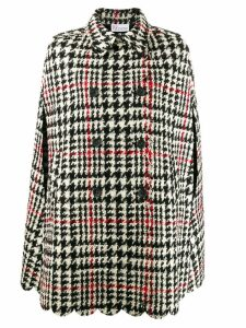 Red Valentino houndstooth cape - Black