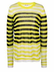Dvf Diane Von Furstenberg striped long-sleeve top - Yellow