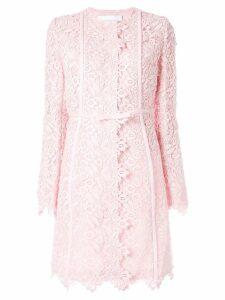 Giambattista Valli floral lace midi coat - Pink