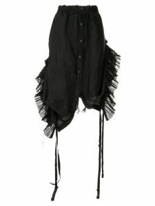 Ann Demeulemeester pleated inserts skirt - Black