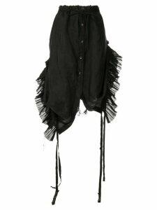 Ann Demeulemeester pleated inserts skirt - Black