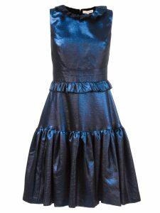Maria Lucia Hohan ruffled flare dress - Blue