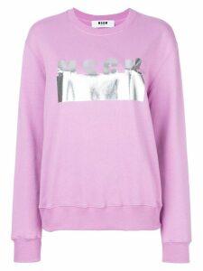 MSGM branded sweatshirt - Pink