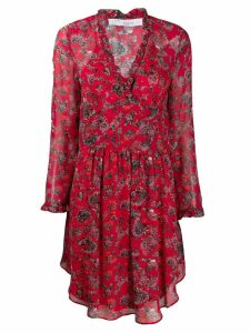 Iro Freida ruffle midi dress - Red