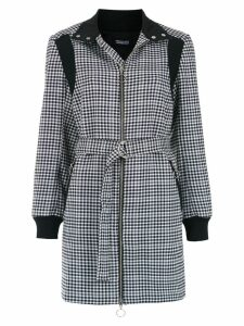 Reinaldo Lourenço checked coat - Black