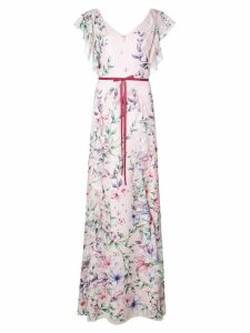 Marchesa Notte floral long dress - Pink