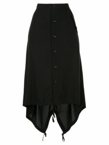 Y's buttoned high waisted skirt - Black