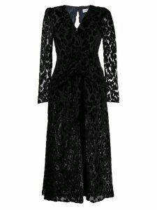 Self-Portrait v-neck midi dress - Black