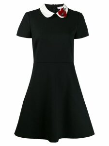 Red Valentino appliqué detail fitted dress - Black