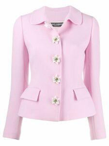 Dolce & Gabbana flower embellished jacket - Pink
