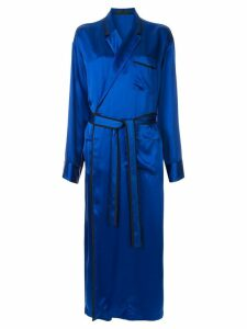 Haider Ackermann satin robe dress - Blue